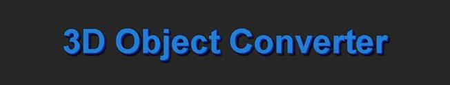 3d object converter 5.30