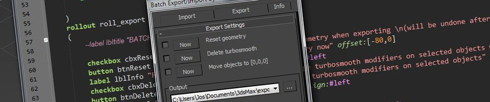 Batch export/import