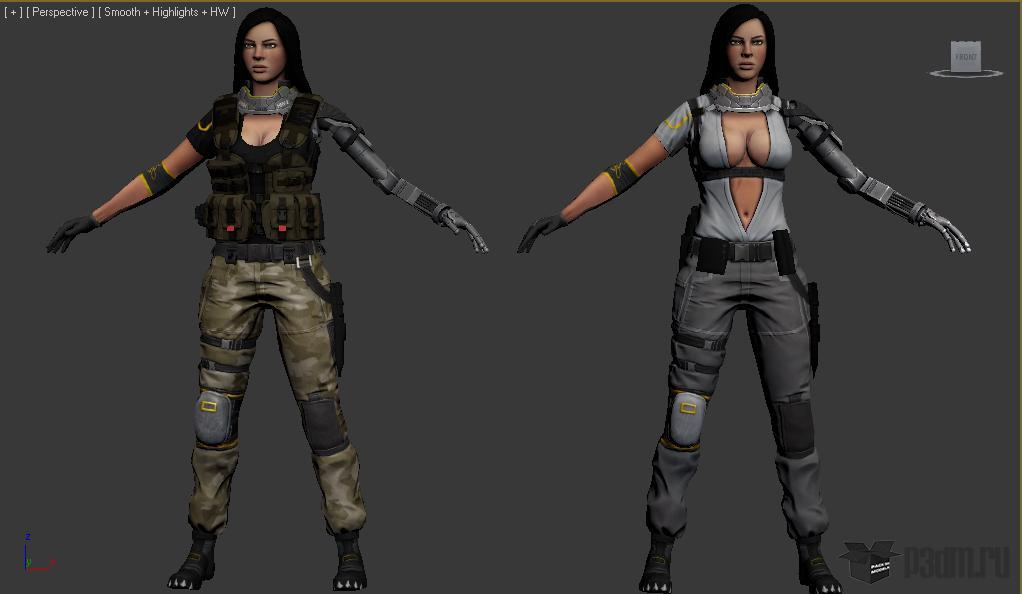 "Sniper "" Pack 3D models"