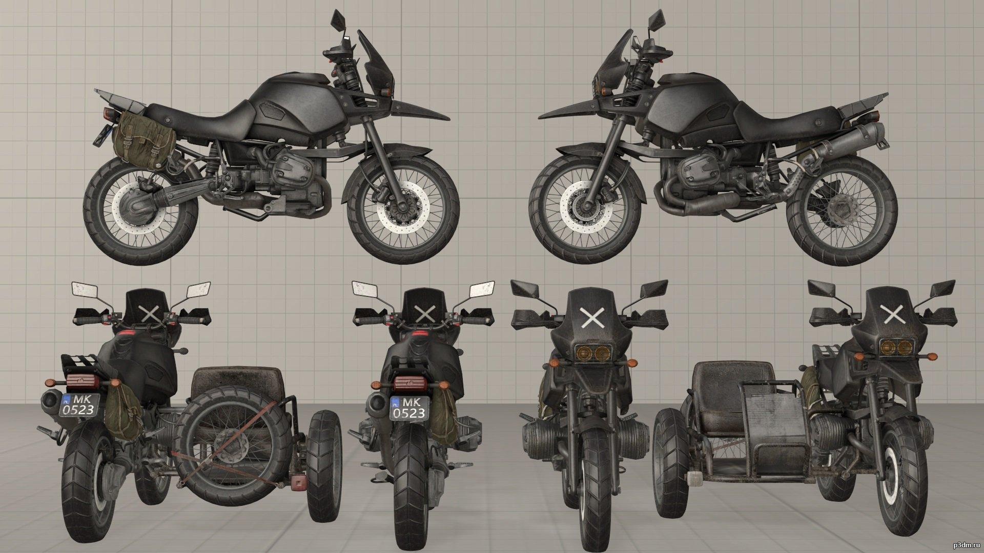 PUBG Motorcycle » Pack 3D Models
