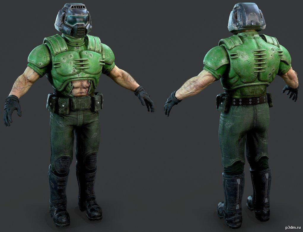 Doom Guy Pack 3d Models