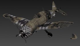 Republic P-47 Thunderbolt(destroyed)
