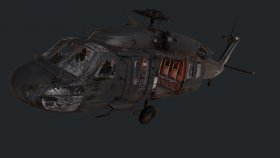 Blackhawk damaged