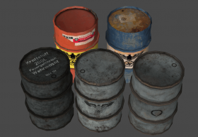 German 50-gallon Drums