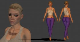 Cassie Cage Yoga outfit