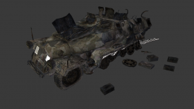 SdKfz 251/3 destroyed