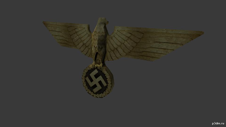Golden emblem eagle » Pack 3D models