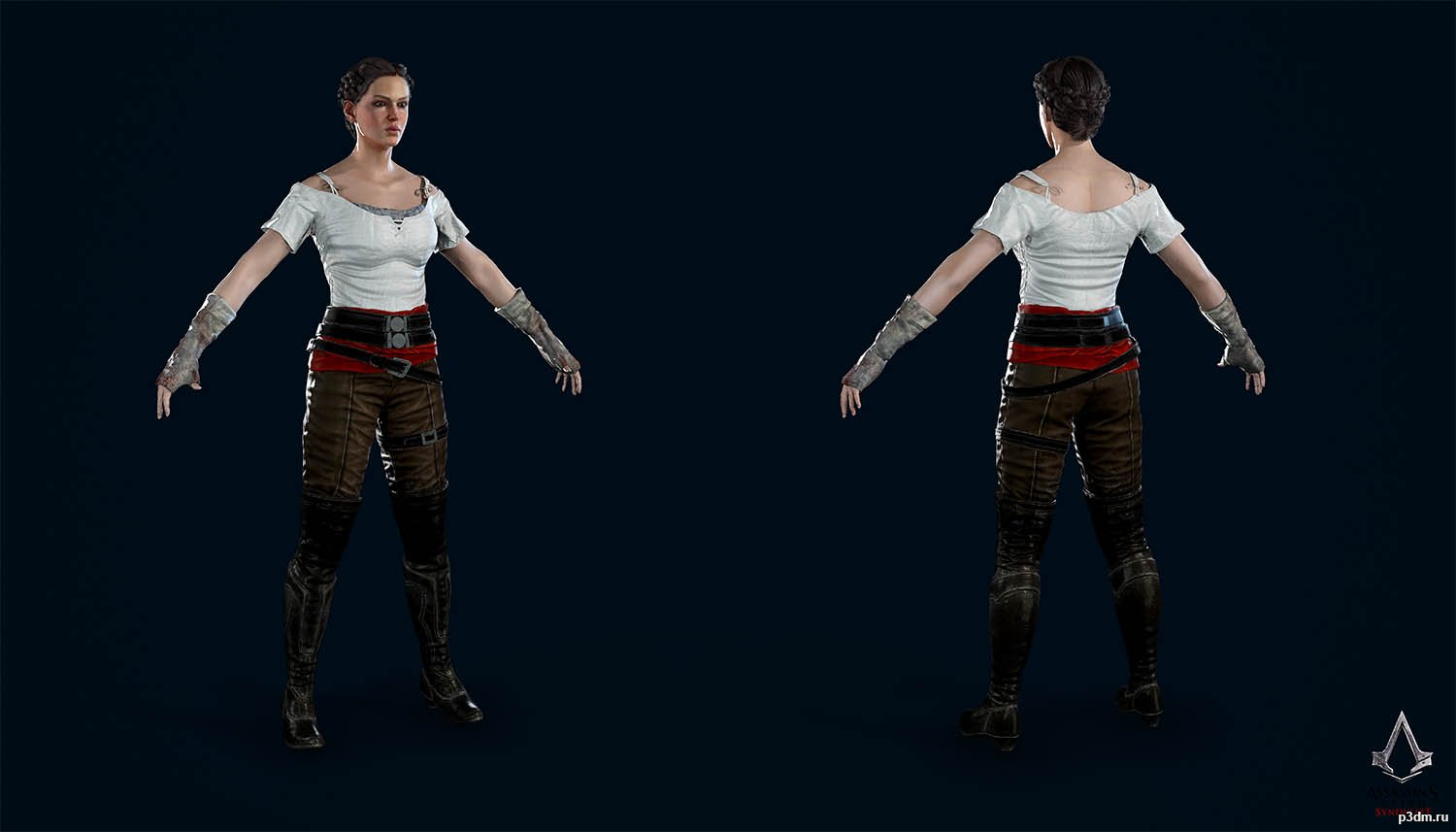 Evie Frye Fight Club Pack 3d Models