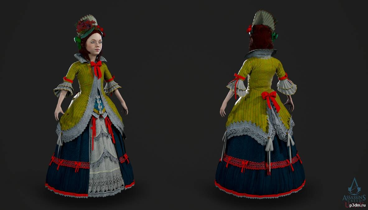 Assassin S Creed Unity Elise 8 Years Pack 3d Models