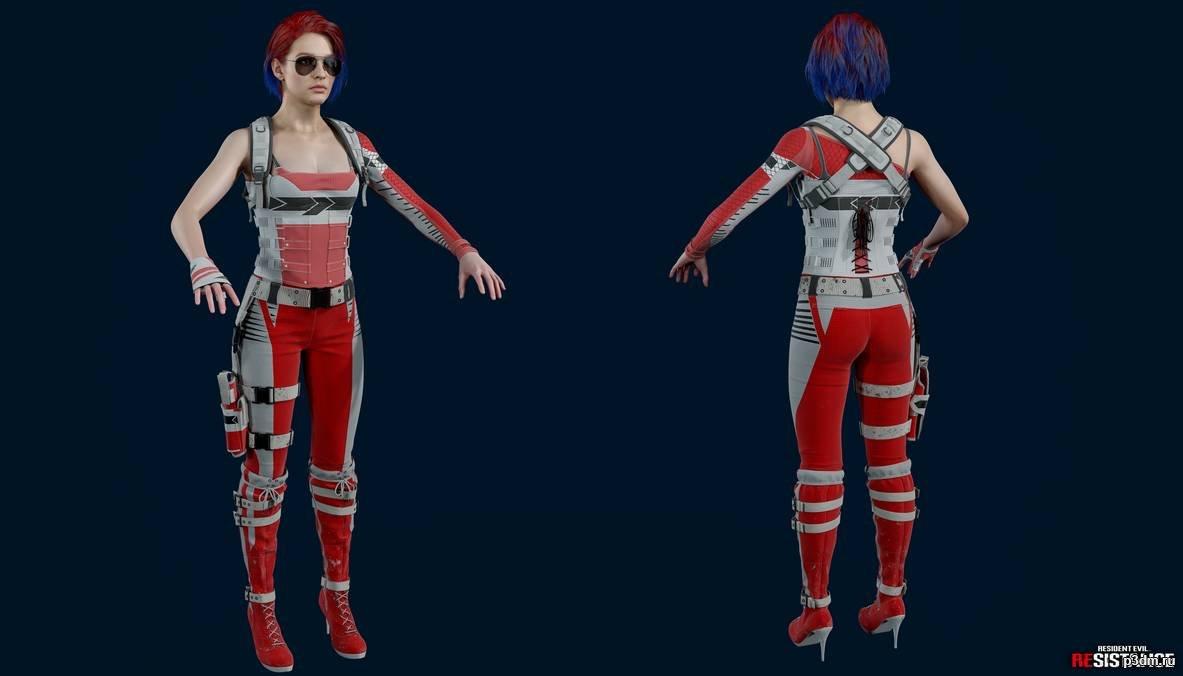 Resident Evil Resistance Jill After Hours Pack 3d Models