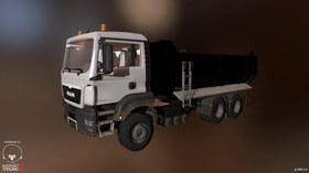 The small MAN TGS Halfpipe Truck