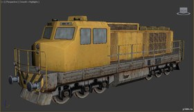 Diesel train engine