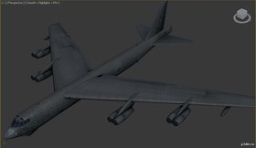 B-52H Stratofortress highpoly