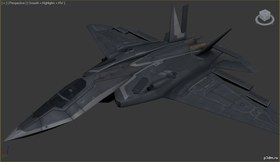 XA-20 Razorback Strike Fighter+cockpit