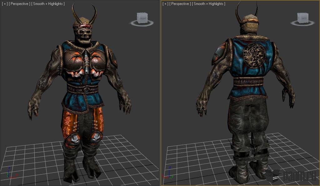 samurai pack 3d models