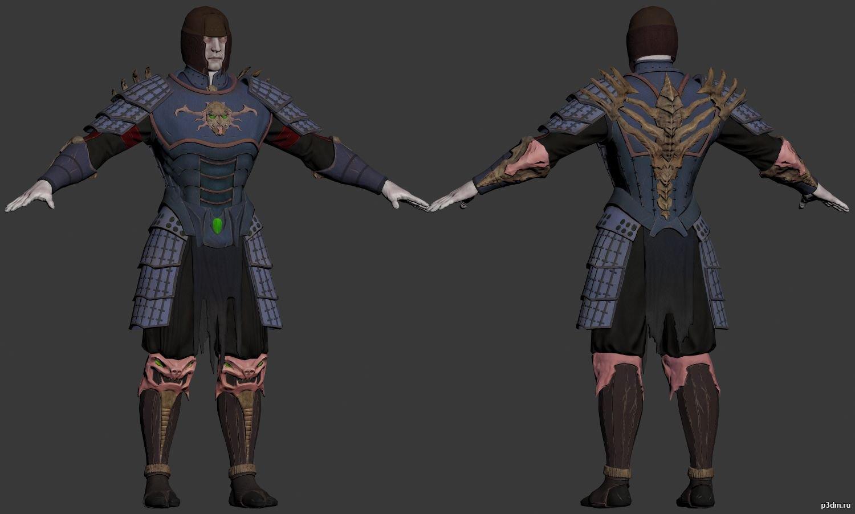 shinnok samurai pack 3d models