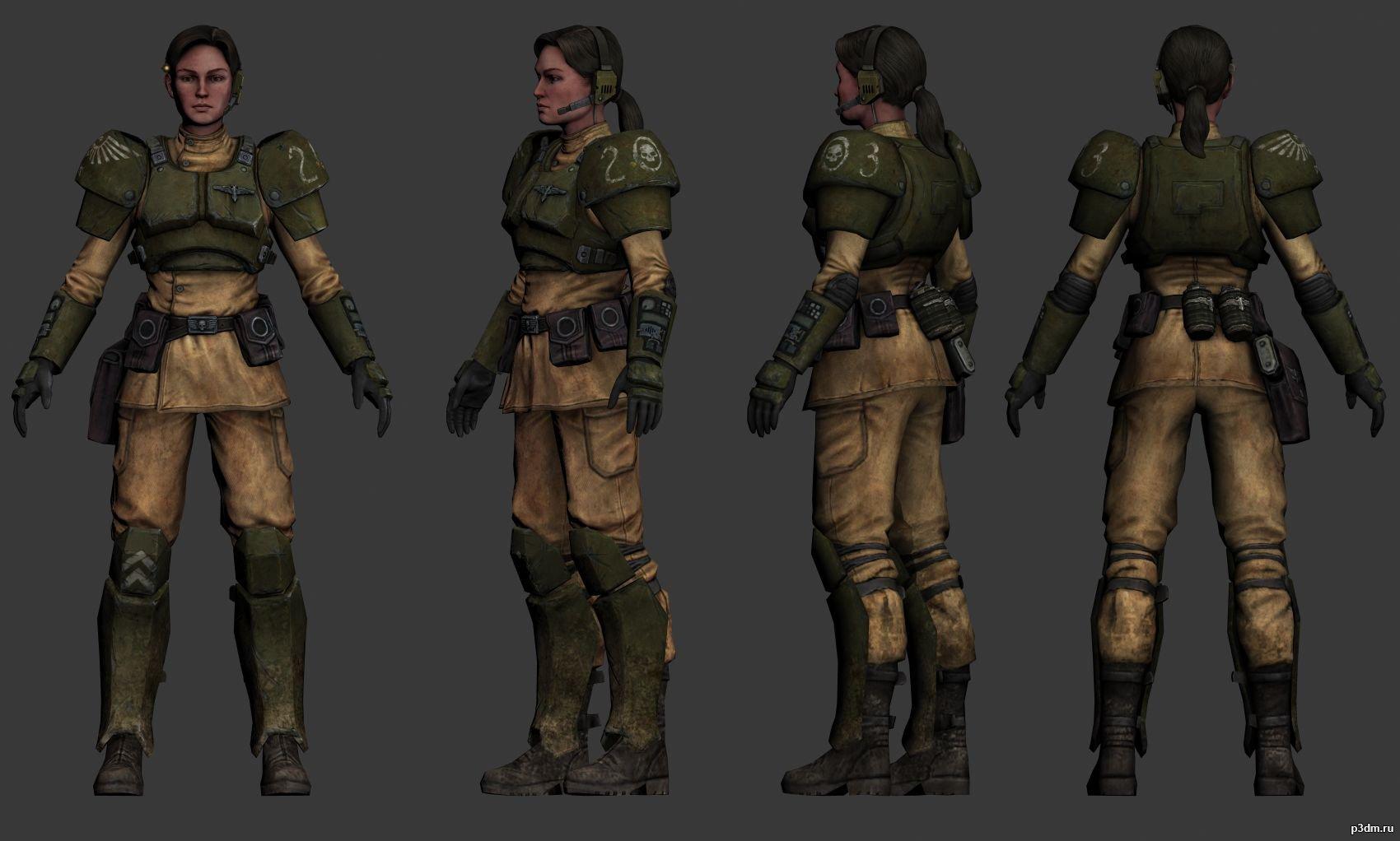 Mira 2nd Lieutenant » Pack 3D models