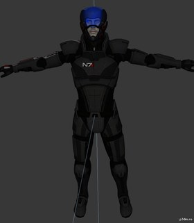 Shepard Default N7 Armor With Capacitor Helmet