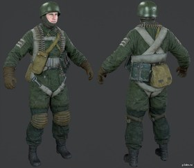 German Paratrooper Support