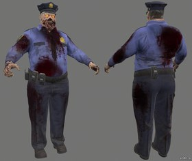 Zombies Police Officer